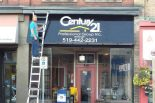 business signage awning example