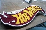 hot wheels logo custom wood craft sign