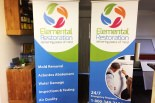 Matching roll up banners
