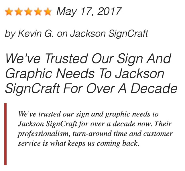 Jackson Signs Review
