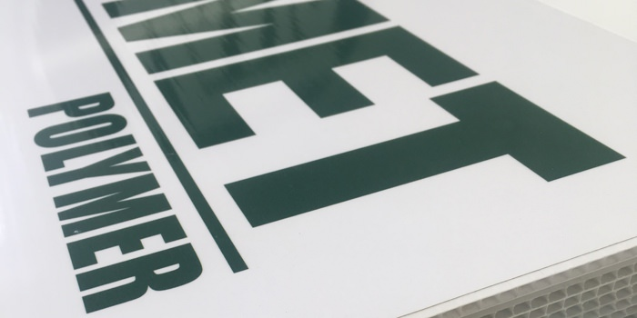 A stack of 6mm corrugated signage