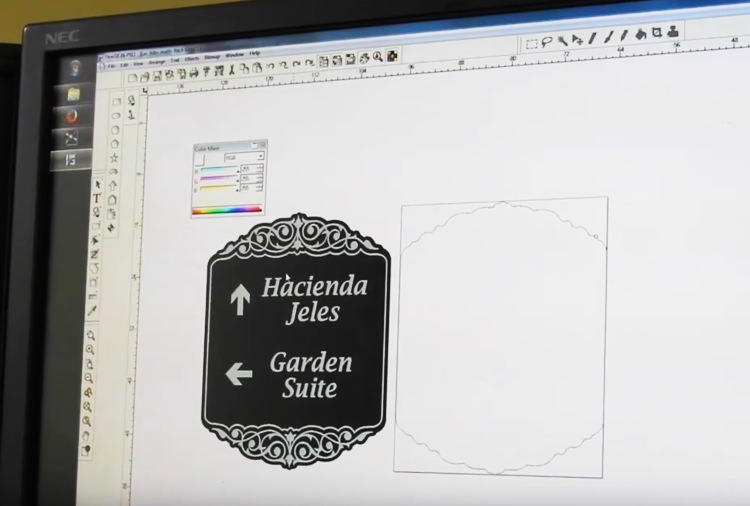 Preparing the sand blast stencil in Adobe Illustrator