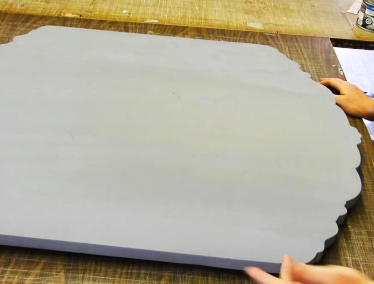 Priming sanding template board